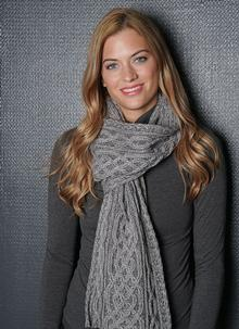 Plaited Scarf Grey