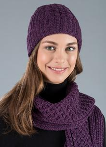 Honeycomb Stitch Aran Beanie