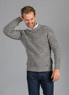Men's Sweater Diagonal Rib