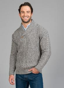 Robert Shawl Neck Aran Sweater