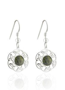 Connemara Marble Open Celtic Drop Earrings