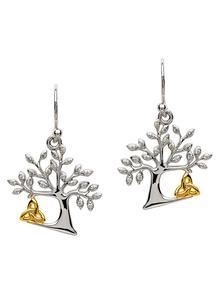 Celtic Tree Of Life Trinity Earrings