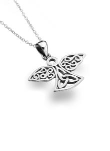 Sterling Silver Celtic Angel Pendant