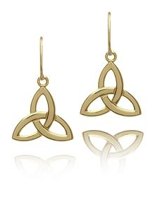 10Ct Yellow Gold Trinity Earrings