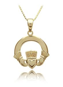 10Ct Yellow Gold Claddagh Pendant