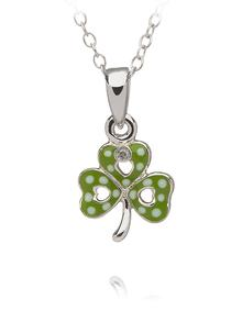 Celtic Princess Shamrock Pendant