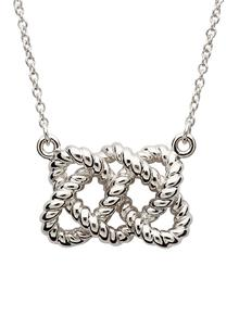 Sterling Silver Fisherman Knot Necklet