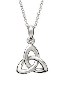 Sterling Silver Rounded Trinity Knot Pendant