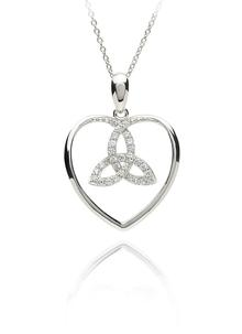 Sterling Silver Trinity Heart Pendant