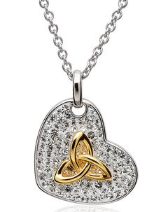 Trinity Pendant Encrusted With Swarovski Crystals