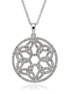Trinity Circle Pendant Embellished With Swarovski Crystals
