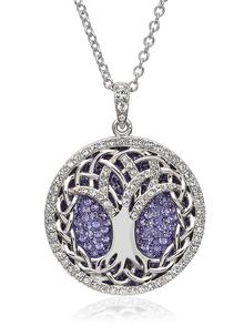 Tree Of Life Pendant Embellished With Swarovski Crystals