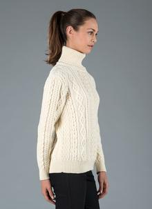 Sheena Aran Polo Neck Sweater
