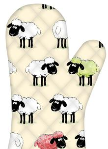 Sheepish Irish Oven Mitt