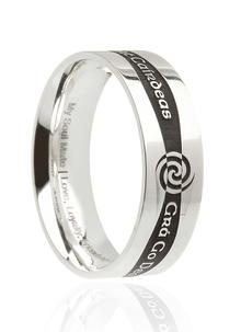 Men's Siorai Etched Promise Ring