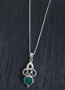 Sterling Silver Celtic Knot Scroll Pendant