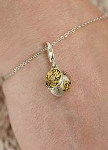 Sterling Silver Pot of Gold Charm