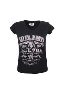 Ladies Black Ireland T-Shirt