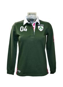 Ladies Ireland Rugby Green Polo Shirt