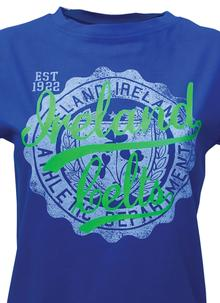 Ladies Blue Celtic Stamp T-Shirt