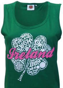 Ladies Green Ireland Vest