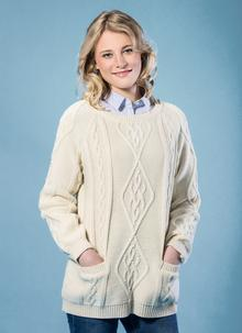 Tara Aran Crew Neck Sweater