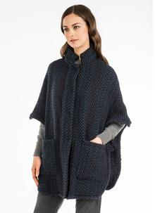 Tara Wool Cape Multi Teal