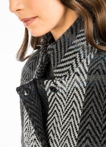 Tara Wool Cape Multi Grey Stripe