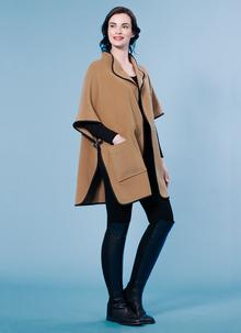Wool Cashmere Buckled Cape