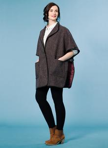 Harris Tweed Buckled Cape