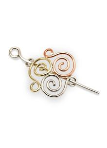 Celtic Triple Spiral Pin