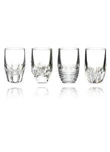Waterford Crystal Mixology Assorted Clear Shot Glass, Set of 4