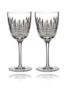 Waterford Crystal Lismore Diamond White Wine Pair
