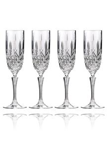 Waterford Crystal Markham Champagne Flute Set Of 4