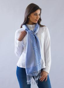 Wool Silk Pashmina Scarf Powder Blue