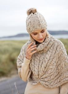 Wool Cape Oatmeal Speckle