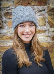 Wool Cashmere Cable Hat Charcoal