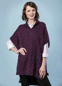 Aoife Wool Cape Purple Marl