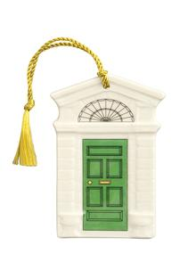 Georgian Green Door Ornament