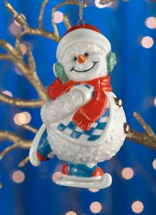 Belleek Ice Skating Snowman