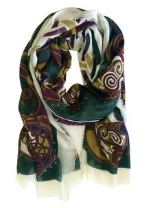 Celtic Scarf Purple Multi