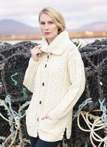 Aran Cable Collar Cardigan