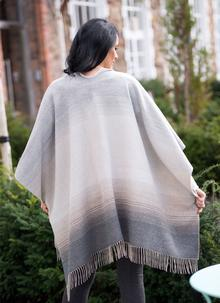 Neutral Woven Fringed Cape