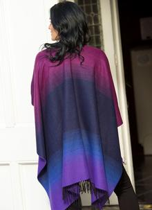 Purple Woven Fringed Cape