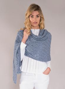 Finola Cotton Linen Wrap Denim Blue