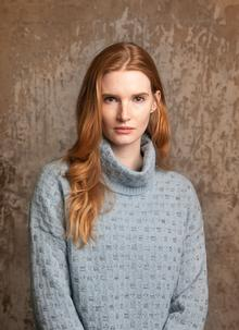 Fisherman Slouchy Polo Neck Sweater