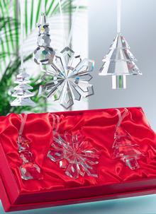 Galway Crystal Hanging Ornaments 3 Pack