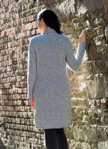 Wool Cashmere Horseshoe Cardigan
