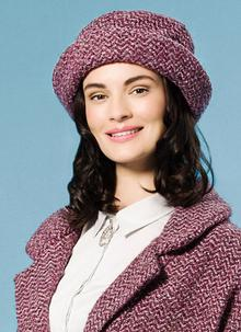 Country Hat Light Plum Herringbone