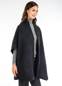 Sandra Teal Honeycomb Cape
